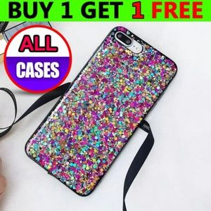 Accessories - NEW iPhone Max/XR/XS/X/78/Plus Glitter Powder Case